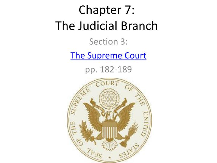 chapter 7 the judicial branch n.
