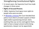 strengthening constitutional rights