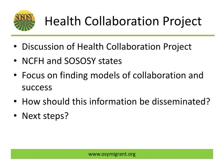 Health Collaboration Project