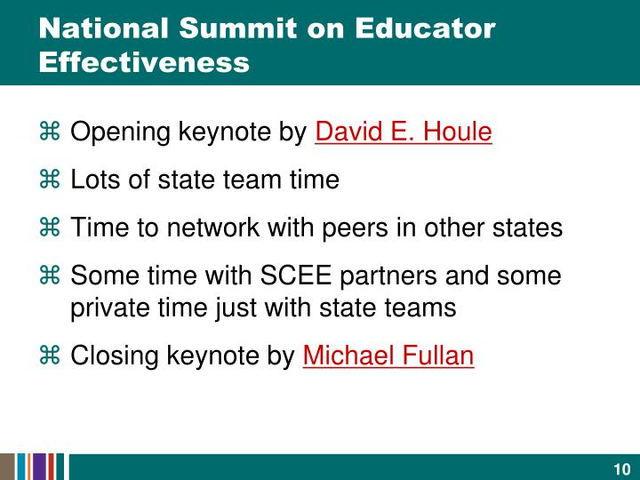 National Summit on Educator Effectiveness