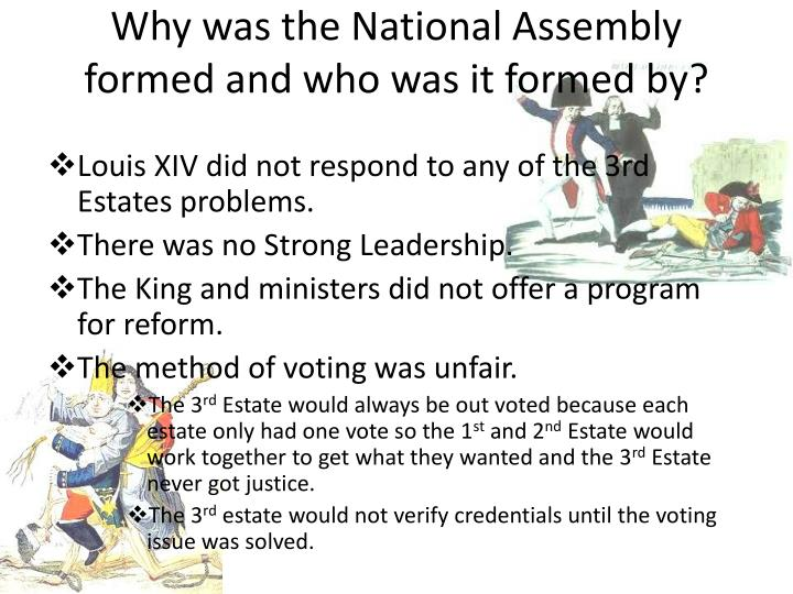 why did the national assembly form