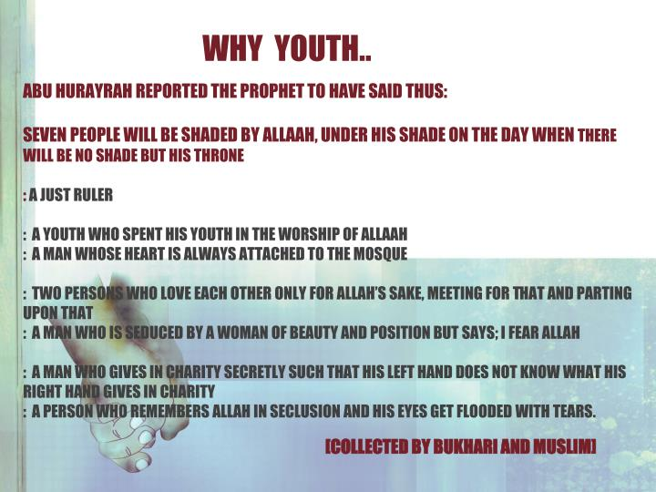 WHY  YOUTH..