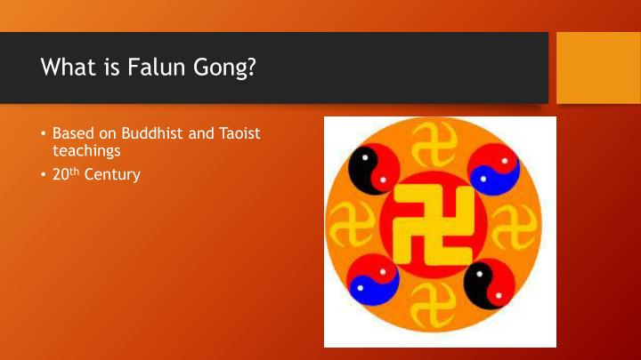 What is falun gong