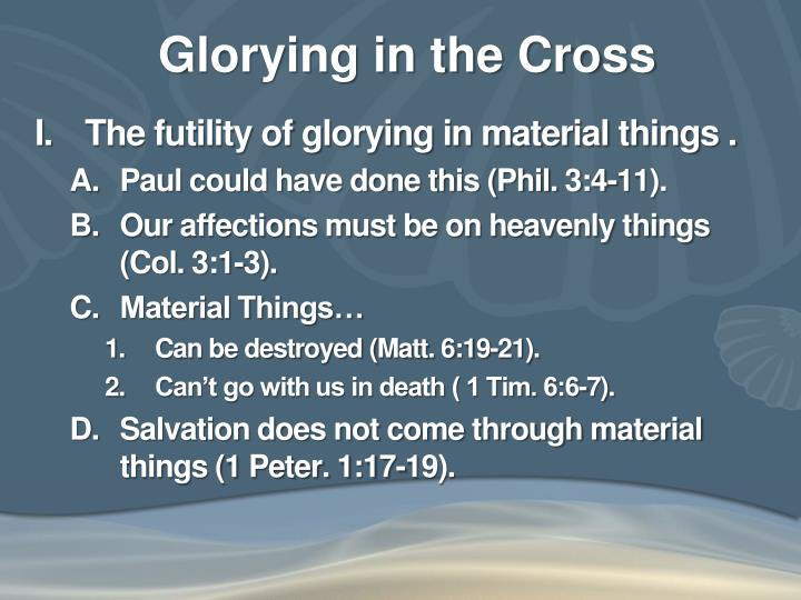 Glorying in the cross1