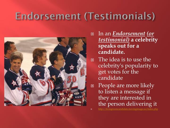 Endorsement (Testimonials)