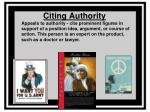 citing authority