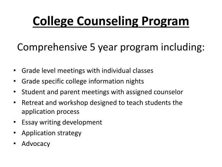 College Counseling Program