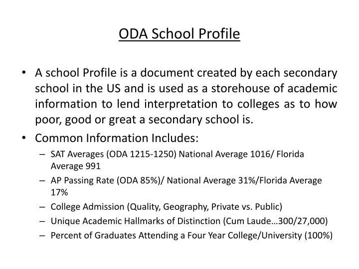 ODA School Profile