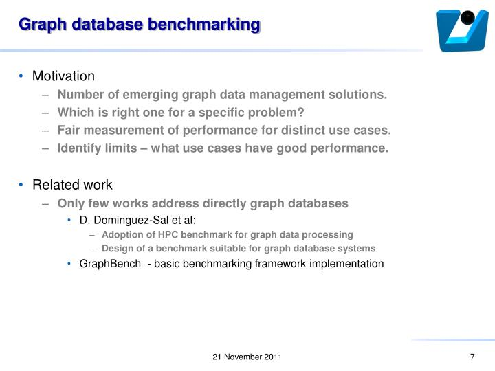 Graph database benchmarking