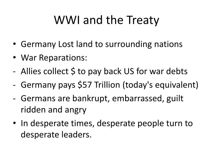 WWI and the Treaty