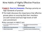nine habits of highly effective practice groups6