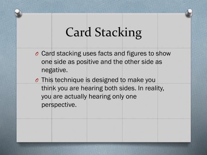 Card Stacking