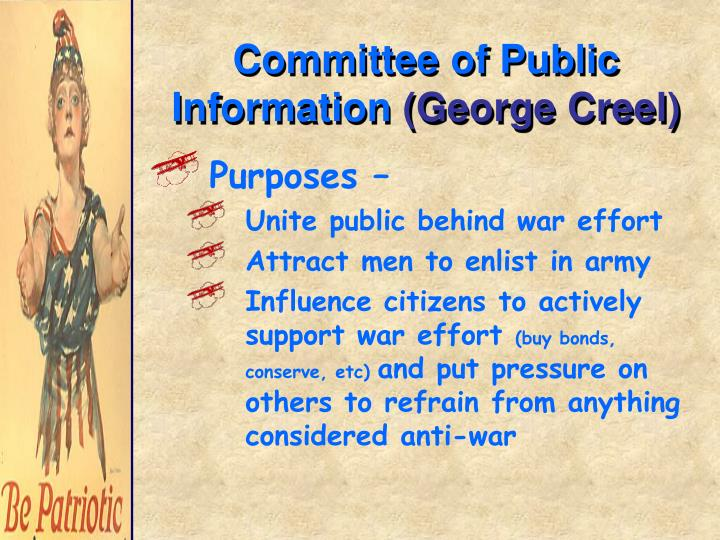 Committee of public information george creel
