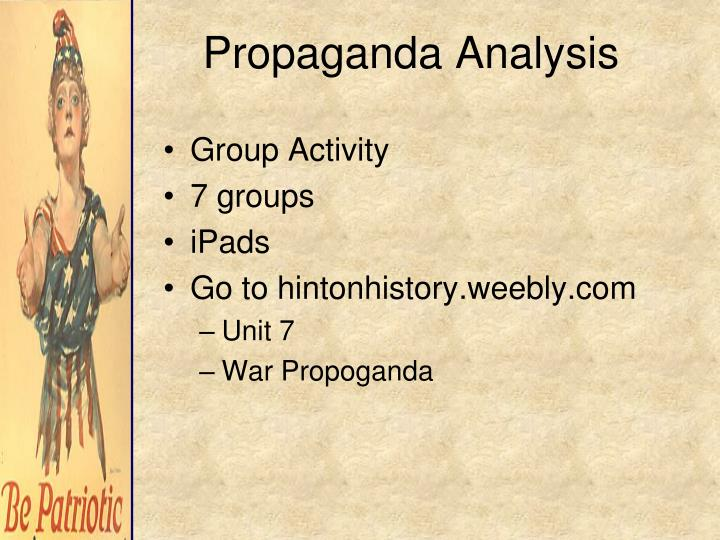 Propaganda Analysis
