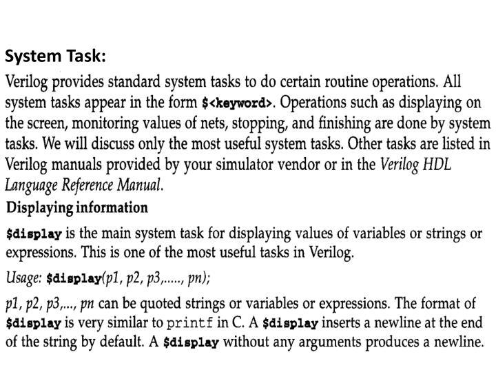System Task: