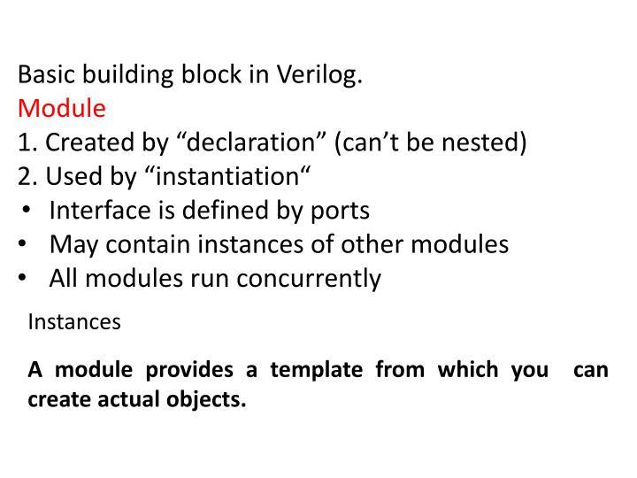 Basic building block in