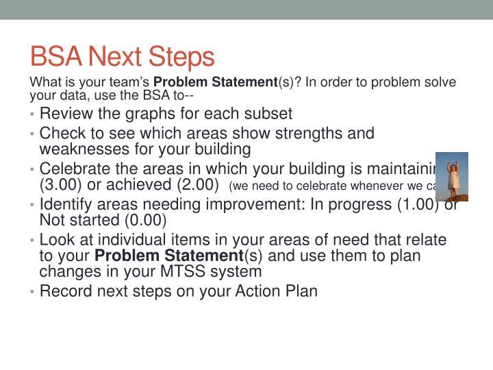 BSA Next Steps