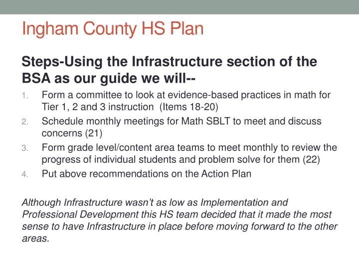 Ingham County HS Plan