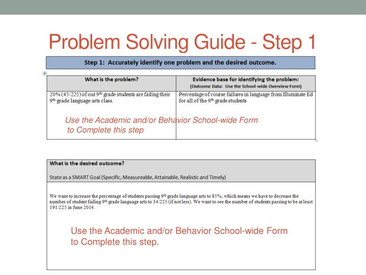 Problem Solving Guide - Step 1