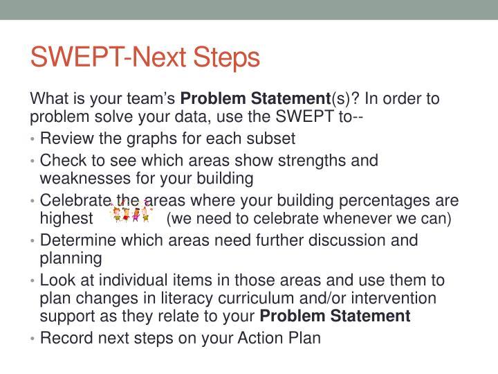 SWEPT-Next Steps