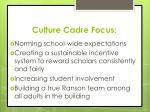 culture cadre focus
