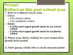 prompt reflect on this past school year