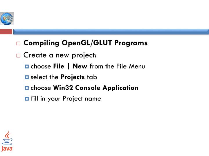 Compiling OpenGL/GLUT Programs