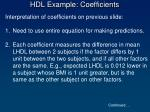 hdl example coefficients