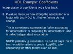 hdl example coefficients1