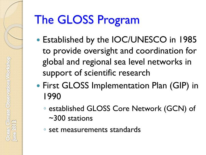 The gloss program