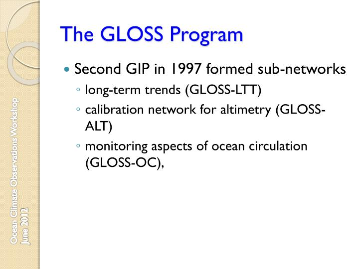 The gloss program1