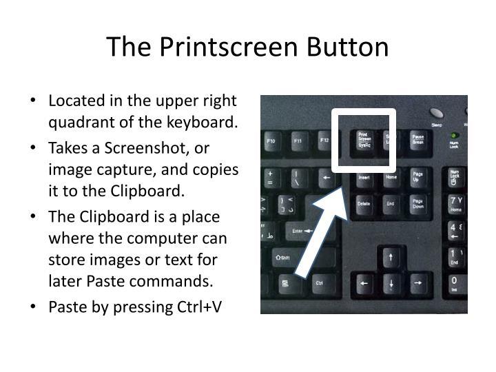 The printscreen button