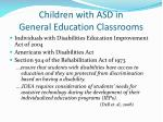 children with asd in general education classrooms