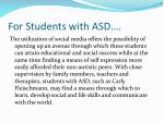 for students with asd