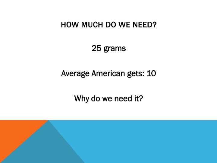 How much do we need?