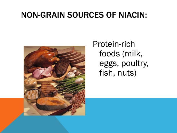 Non-Grain Sources of Niacin: