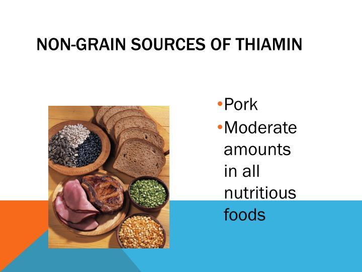 Non-Grain Sources of Thiamin