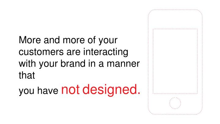 More and more of your customers are interacting with your brand in a manner that