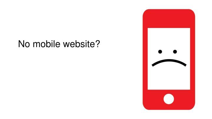 No mobile website?