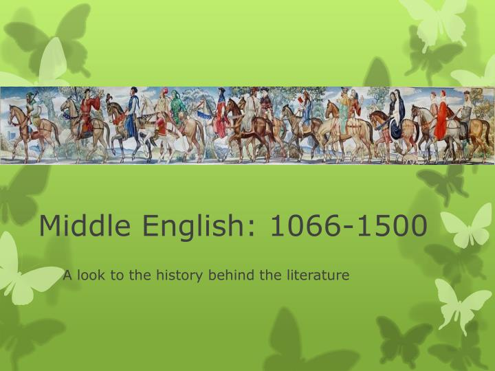 middle english 1066 1500 n.