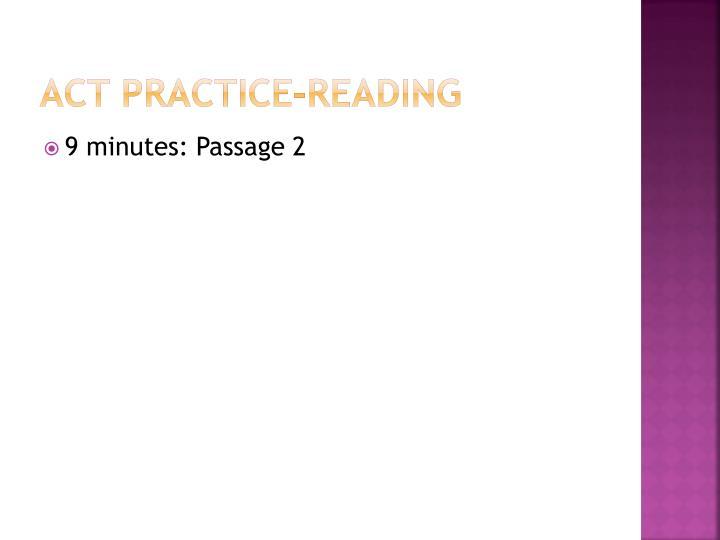 Act practice reading