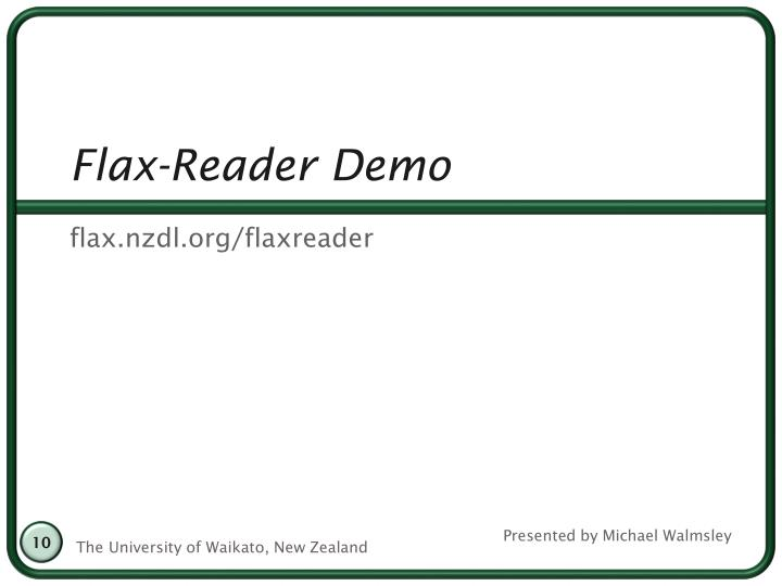Flax-Reader Demo
