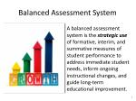 balanced assessment system