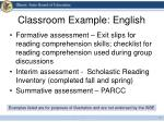 classroom example english