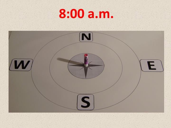 8:00 a.m.