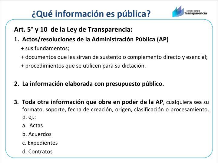 ¿Qué información es pública?