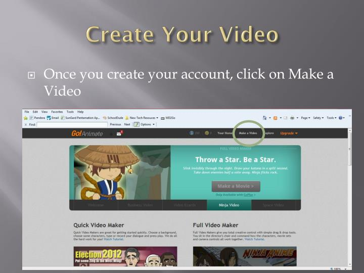 Create Your Video