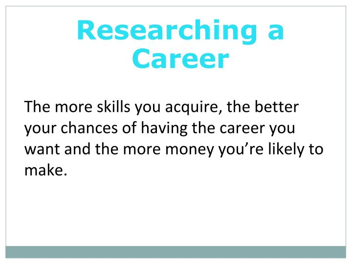 Researching a Career