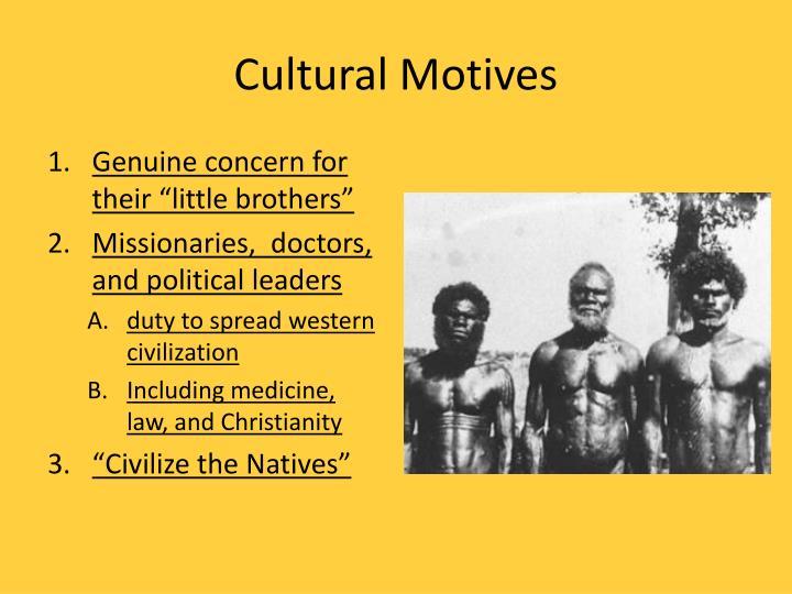 Cultural Motives