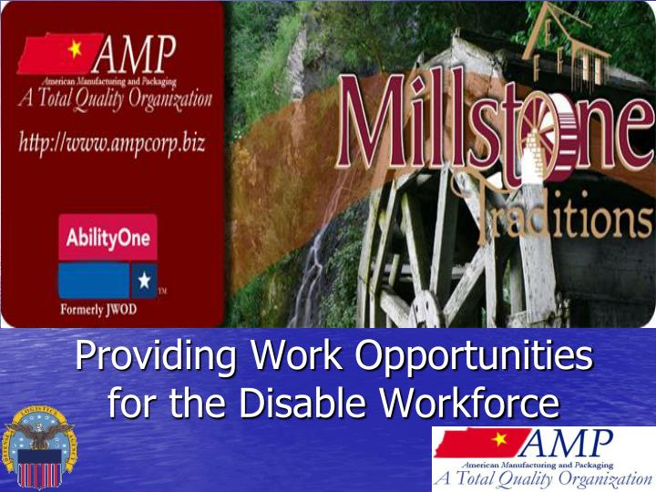 Providing work opportunities for the disable workforce